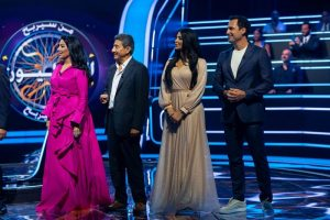 Al-Qasabi and Reem Abdullah in a special episode of Who Will Be a Millionaire